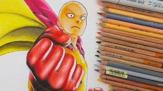 Drawing Saitama || One Punch Man ワンパンマン