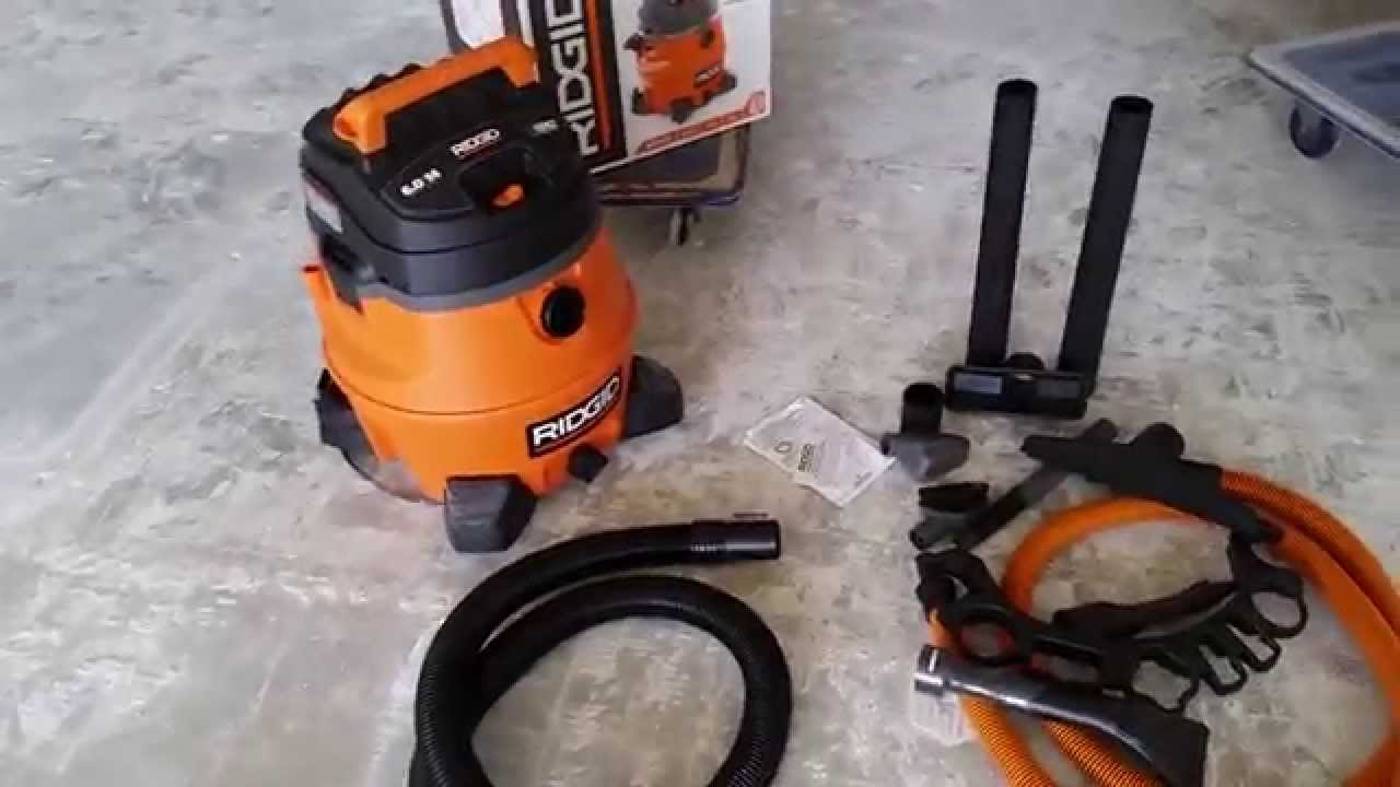 6hp Ridgid Vacuum Wd1451 14 Gal Unboxing Review Youtube