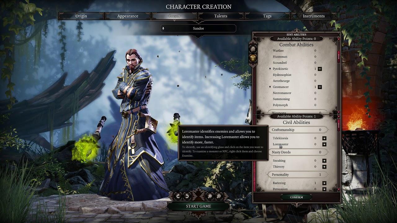Divinity: Original Sin 2 RELEASE 100% Walkthrough E00 - Character Creation