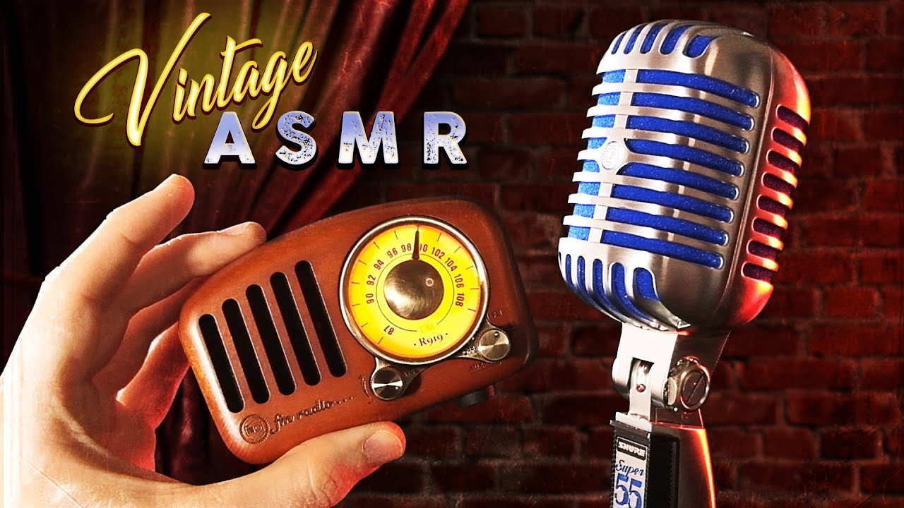 ASMR Vintage Mic & Retro Triggers | Tingly Nostalgia for Sleep and Relaxation