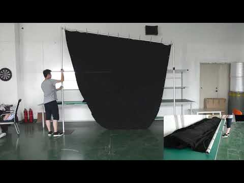 Black Led Star Curtains For Stage Backdrops
