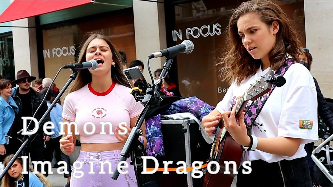 "CROWDED STREET STOPS TO LISTEN! | ""Demons - Imagine Dragons"" | Allie Sherlock & Saibh Skelly"