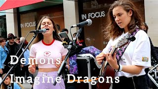 "CROWDED STREET STOPS TO LISTEN! | ""Demons - Imagine Dragons"" 