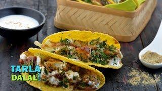 Aloo Chaat Tacos by Tarla Dalal