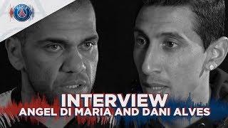 INTERVIEW DI MARIA AND DANI ALVES : MANCHESTER UNITED vs PARIS SAINT-GERMAIN (UK)