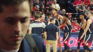 Video focusing on Arizona Wildcat coach Sean Miller at the 2018 Red Blue game