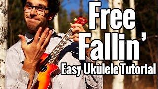 """Free Fallin"" Ukulele Tutorial - Tom Petty, John Mayer Uke Play Along EASY"