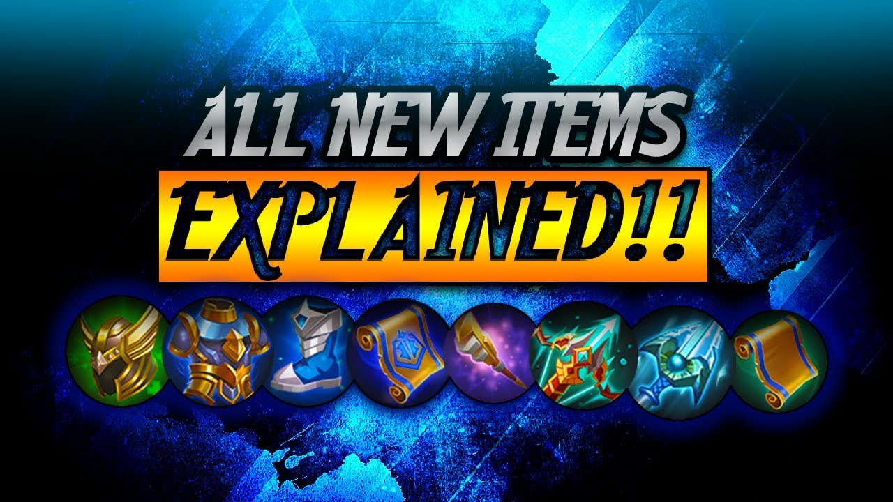 All New Items! Explained! || Mobile Legends