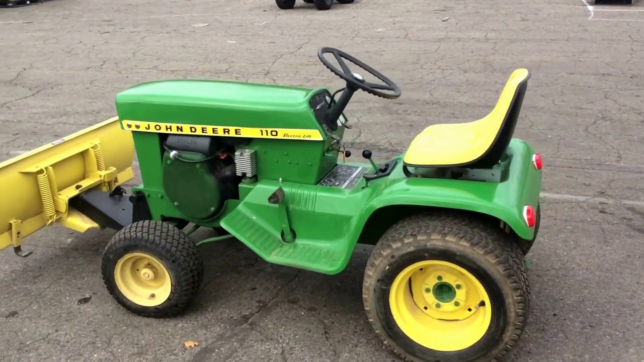 John Deere 110 Lawn Tractor For Sale Online Auction Youtube