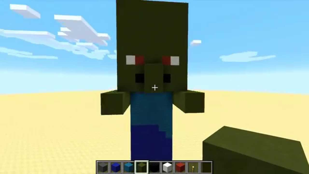 minecraft how to build baby zombie villager youtube