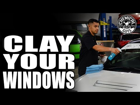 How To Remove Windshield Contamination And Overspray - Chemical Guys Clay Block V2