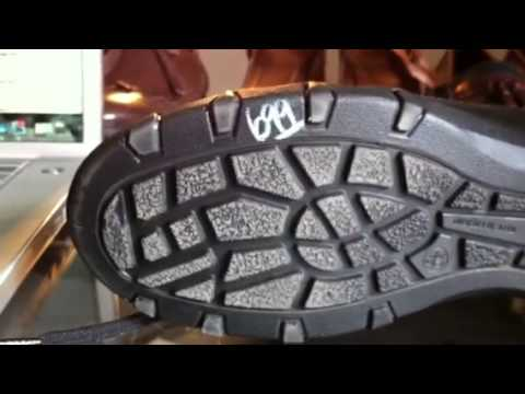 How to remove the dreadful Thrift Store pricing marker from the bottom of shoes.