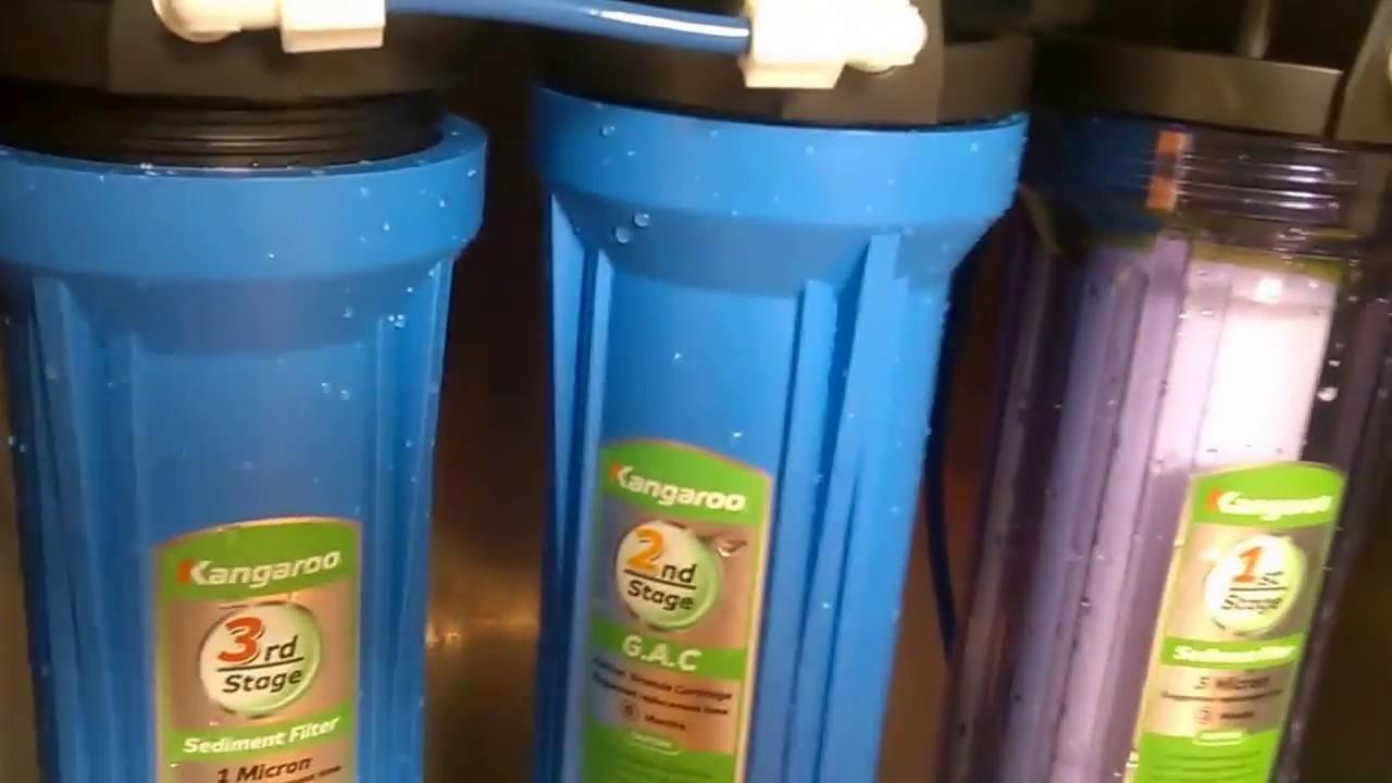 Hướng dẫn cách thay lõi lọc cho máy lọc nước  Kangaroo