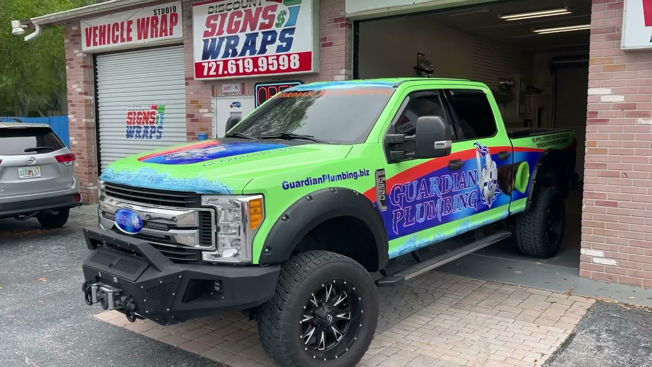 Ford F250 full wrap by Discount Signs And Wraps