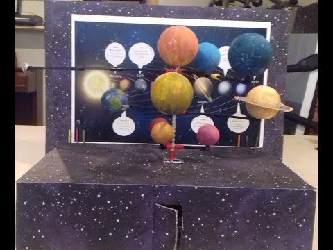 Solar system project with LEGO and craftwork