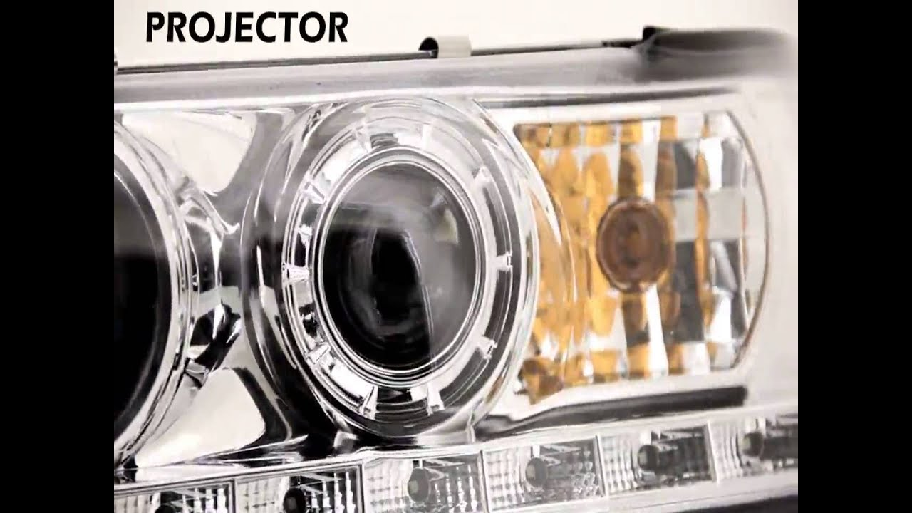 Specdtuning demo video_ 1998 2011 ford crown victoria led projector headlights mp4