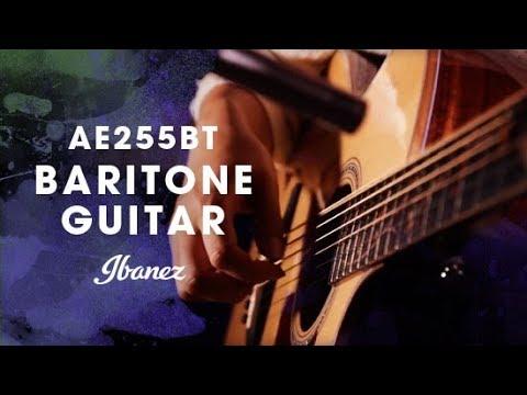 Ibanez AE255BT - Baritone Acoustic Electric Guitar