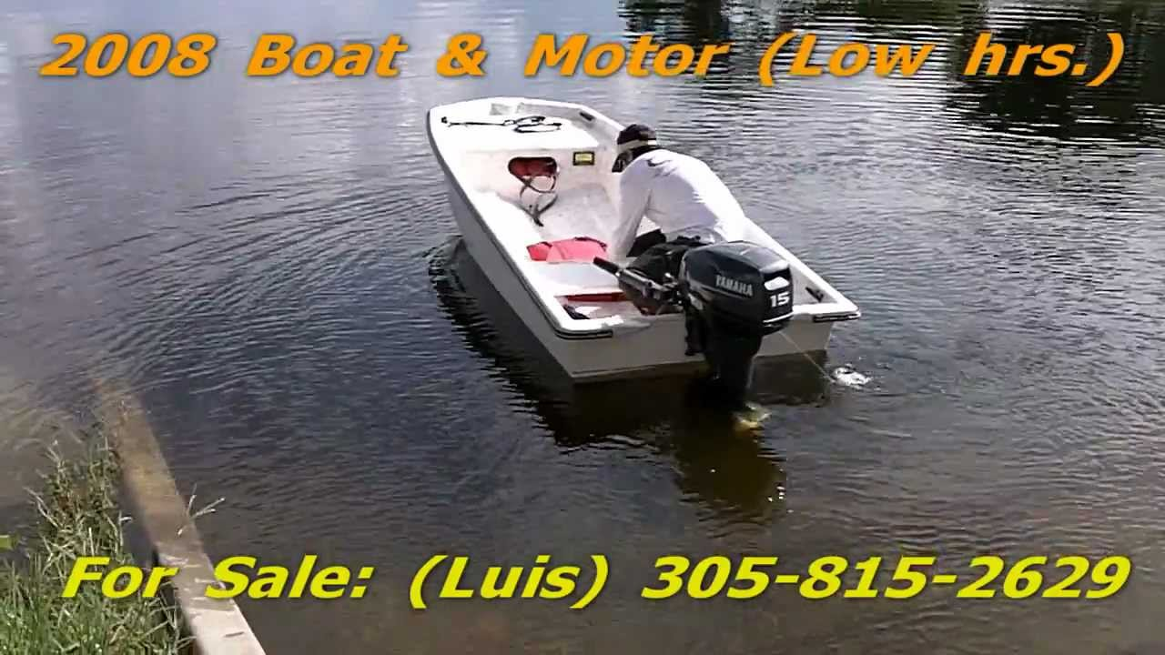 Many Boats Forsale - Used For Sale 12ft  08 Fiberglass Boat 2008 Yamaha  Outboard | Miami Fl