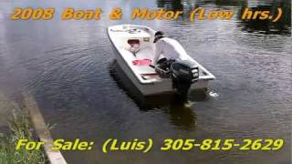 Many Boats Forsale - Used For Sale 12ft. 08 Fiberglass Boat 2008 Yamaha Outboard | Miami Fl.