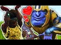 Making Friends With Thanos In Fortnite...