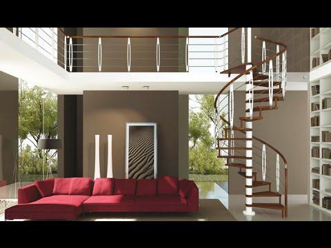 Escaleras de interior de madera de aluminio con pasamanos for Gradas interiores para casas