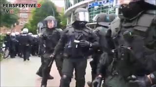 """Livestream-Ausschnitt  Polizeiangriff auf den """"Antiimperialistischen Block"""" auf Anti-G20 Demo"""