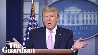 Coronavirus: Donald Trump and members of the US task force brief reporters – watch live