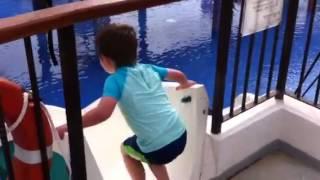 Water slide in Mallorca