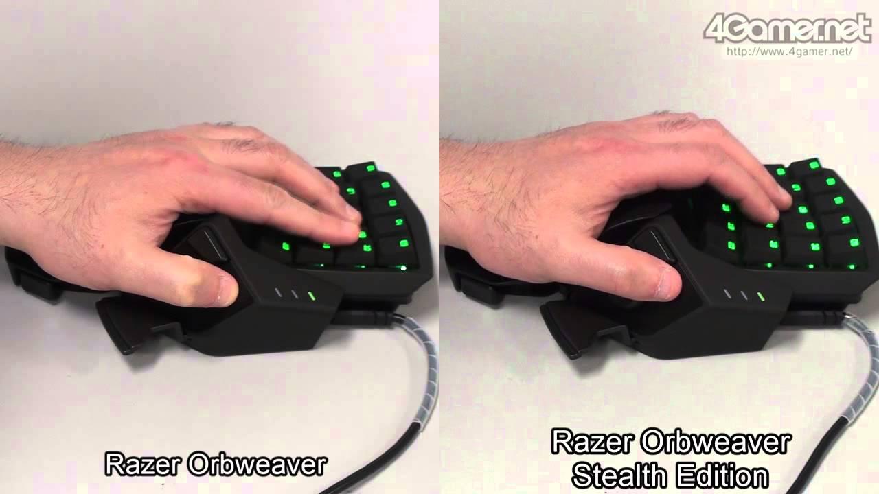 Razer OrbweaverとRazer Orbweaver Stealth Editionの打鍵音比較 - YouTube