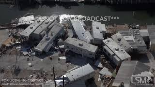 9-12-2017 Marathon, FL - Chopper Video Seven Mile Bridge Florida Keys Hurricane Irma Aftermath