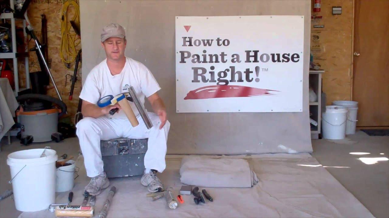 Interior house painting equipment