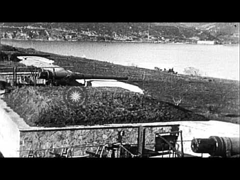 Allies enter Dardanelles and Constantinople after end of World War I HD Stock Footage