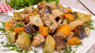 Курица с овощами в рукаве - отличная идея для обеда или ужина