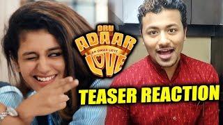 Oru Adaar Love TEASER REACTION | Priya Prakash Varrier, Roshan Abdul