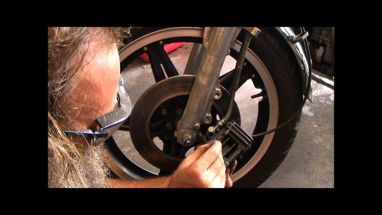 Front Brake Pad Service Replacement 1981 Honda Cm400a Youtube Wiring Diagram 1982 Gl500 Interstate