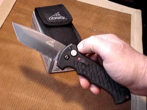 Gerber 06 Military EOD Issue Tanto-Serrated Blade/ Black G-10 Scales Bomb  Knife