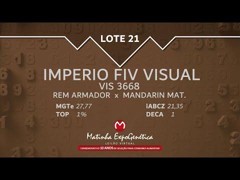 LOTE 21 MATINHA EXPOGENÉTICA 2021
