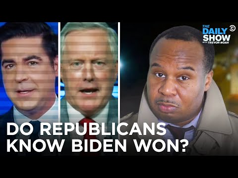 "Unsolved Mysteries: Why Can't Republicans Say ""Joe Biden Won The Election""? 
