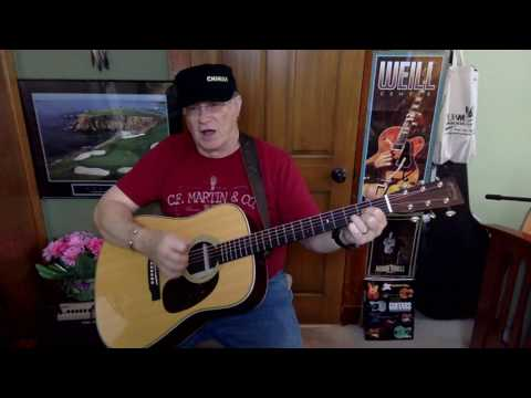 142b - Sunday Morning Coming Down - Kris Kristofferson cover - Vocals & acoustic guitar & chords