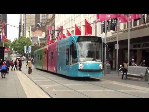 Trams at the Bourke Street Mall - Melbourne Trams