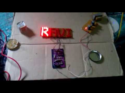 led name plate using simple circuit