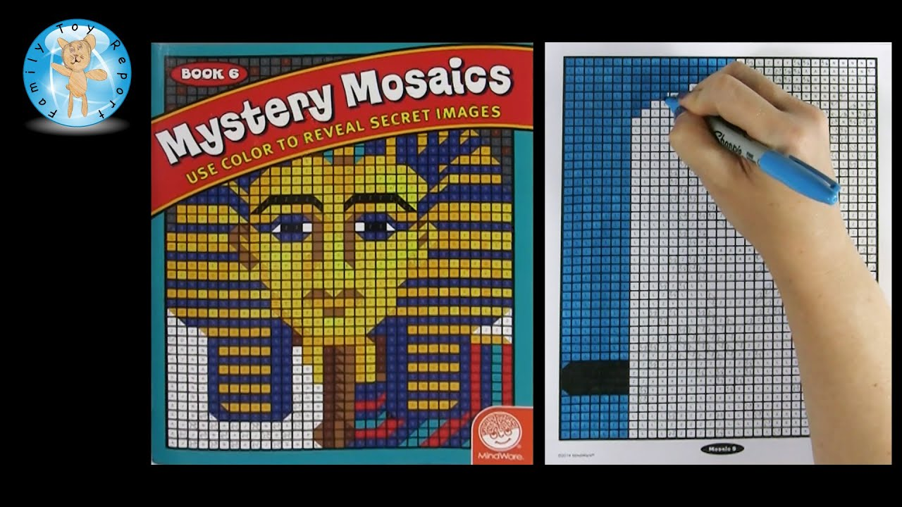mindware mystery mosaics book number 6 coloring book speed coloring family toy report youtube - Mosaic Coloring Book
