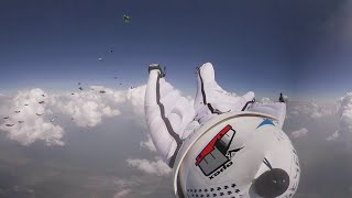 Wingsuit flight 360: Feel the skydive thrill with Russian \'birdmen\' setting national record