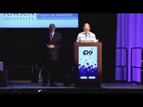 CHI 2016 SIGCHI Social Impact Award: Jonathan Lazar
