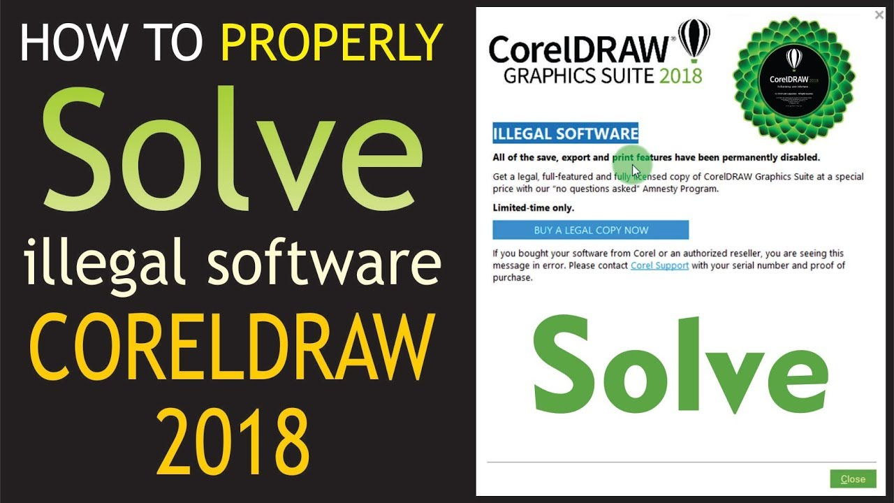 How to Fix CorelDRAW 2018 Illegal Software Problem