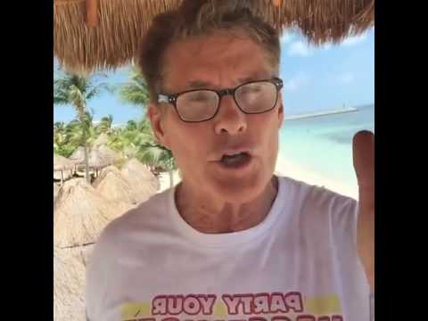 David Hasselhoff at Excellence Playa Mujeres, Canc