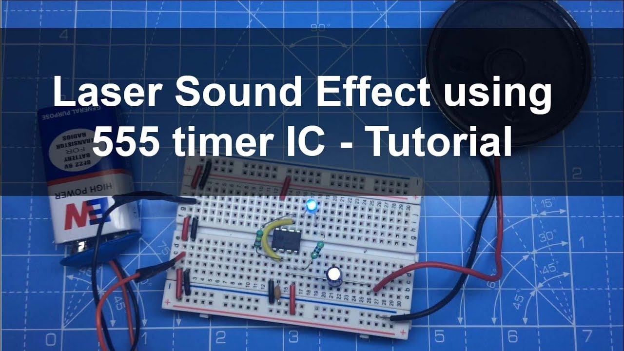 Laser Sound And Led Flash Using 555 Timer Ic Breadboard Tutorial Home Chaser Circuit