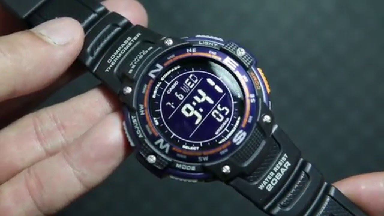 cc7940bc508 Casio Outgear SGW-100-2B TWIN SENSORS - YouTube
