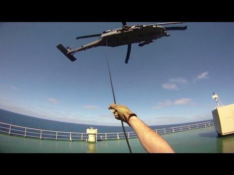 POV USAF Pararescuemen Rescue caught on helmet camera