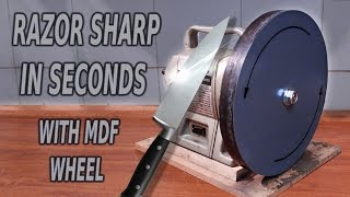 Sharpening Wheel For Razor Sharp Blades! MDF